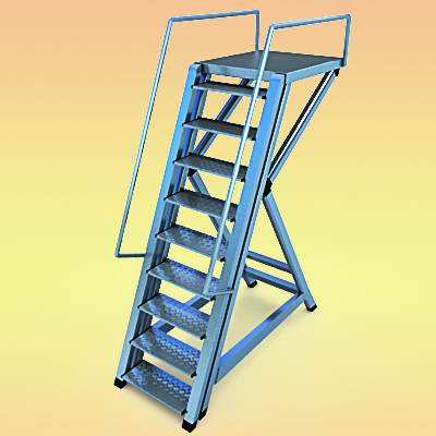 The 3D model of Airport stepladder