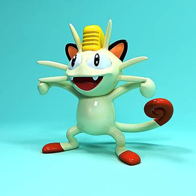 model: 3D Pokemon character Meowth