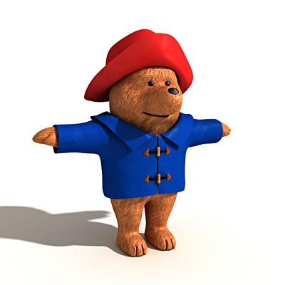3D model of Paddington bear