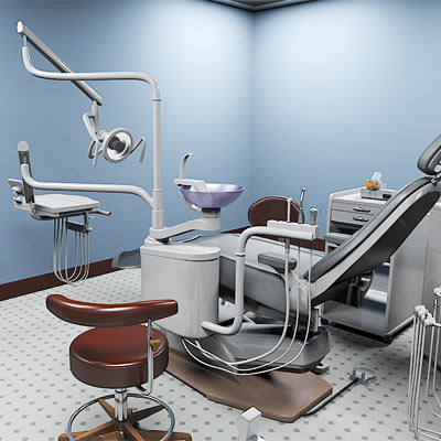3D model of a Dentist's office set