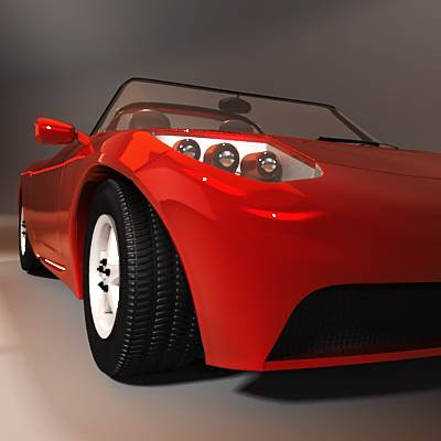 model: An electric sport 3D car looks like Tesla Roadster