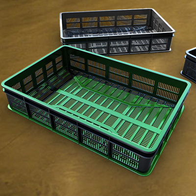 3D model featuring a set of plastic containers
