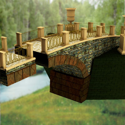 3D model of a Medieval bridge
