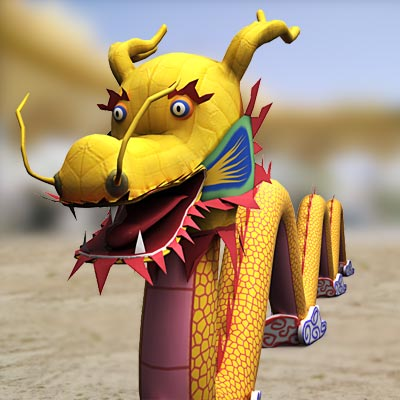 3D model of a Chinese dragon