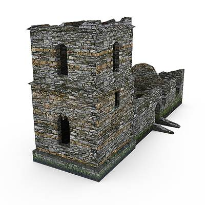 model: 3D remains of an old tower
