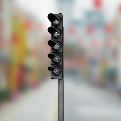 3D model of a Chinese traffic light