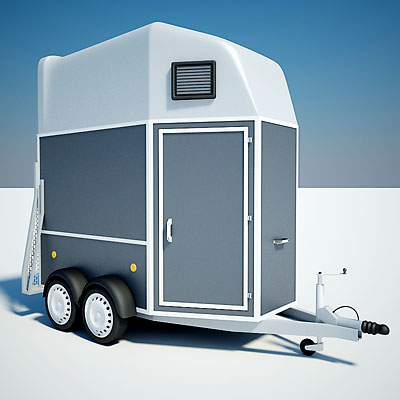 3D model of a Horse trailer
