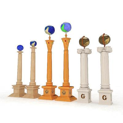 model: 3D Mason columns with the globs