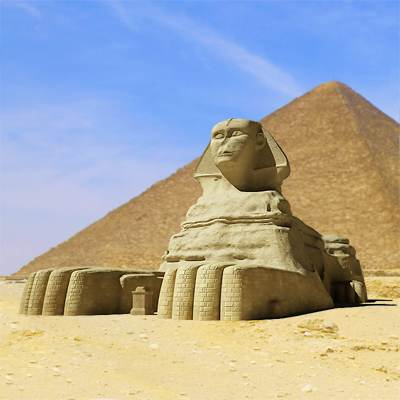 The 3D model of the Great Sphinx of Giza