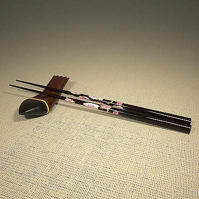 3D model: Japanese chop sticks