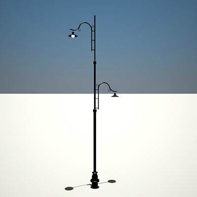 model: 3D retro street light design in French style