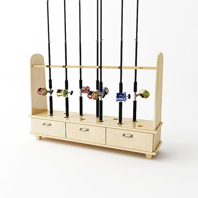 3D model of Rod rack