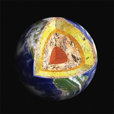 Photorealistic 3D model of Earth structure