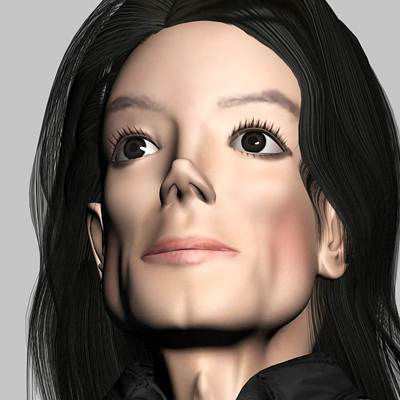 model: Michael Jackson, 3D pop singer