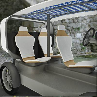 model: 3D an electric car looks like Venturi Eclectic, the World's First Production Solar-Electric Car