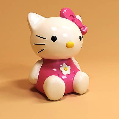 model: 3D Hello Kitty, famous Japanese character