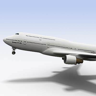 3D model of B-747 often called Jumbo 3D model
