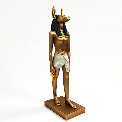 model: 3D Egyptian god Anubis