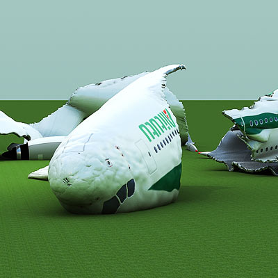 3D model of a Crashed Airbus-A380<br />