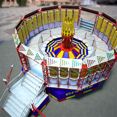 3D model of Rotor ride