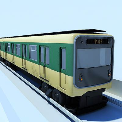 3D model: The Paris metropolitan train is included into the Metropolitan collection.