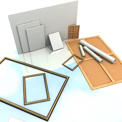 3D model of Canvas and frame