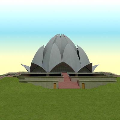 3D model of the Lotus Temple