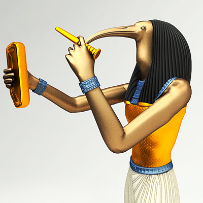 3D model of Thoth