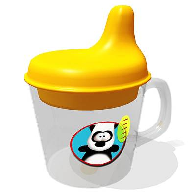 The 3D model of a Sippy cup