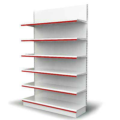 The 3D model of typical trading shelving used in supermarkets