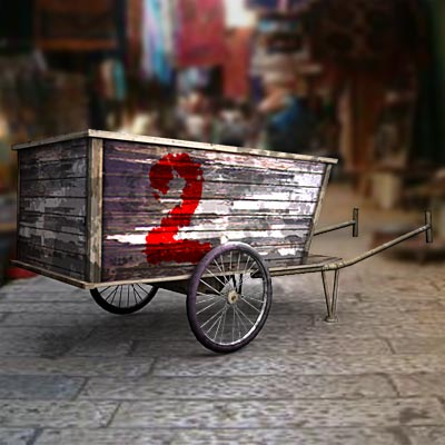 3D model of a Chinese cart
