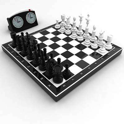 The 3D model of Chess collection