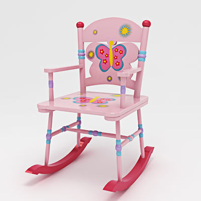 3D model of a Kid's rocking chair