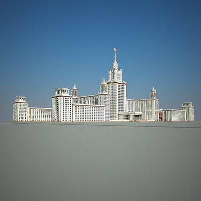 The 3D model of the Moscow state university Lomonosov