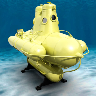 3D model of the Cousteau bathyscaphe