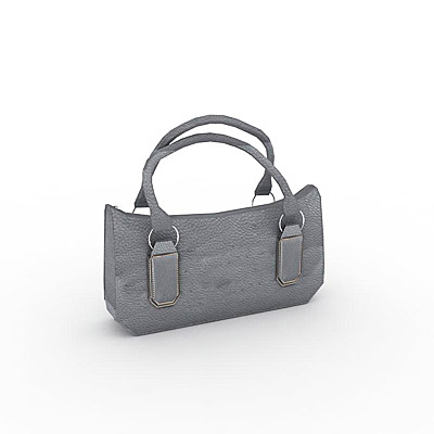 3D model of a Grey handbag
