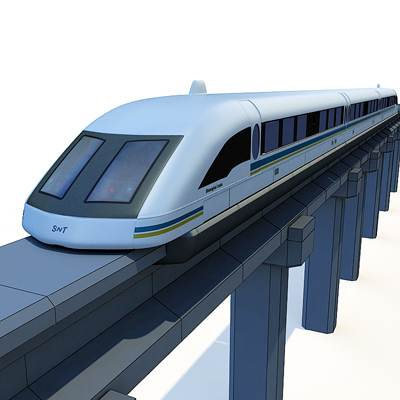 3D model: The Metropolitan collection's treasure is surely the Shanghai Maglev Train.