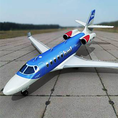 Realistic and detailed Gulfstream G150 3D model