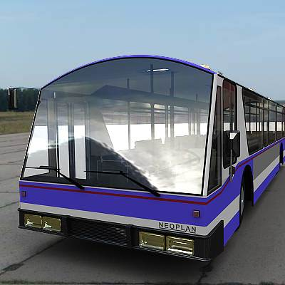 3D model of an airport bus