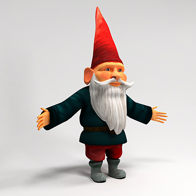 3D model of Gnome