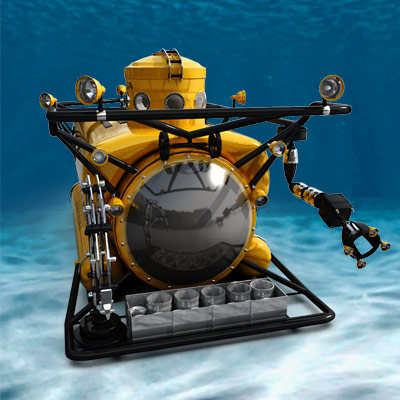 3D model of the bathyscaphe Clelia