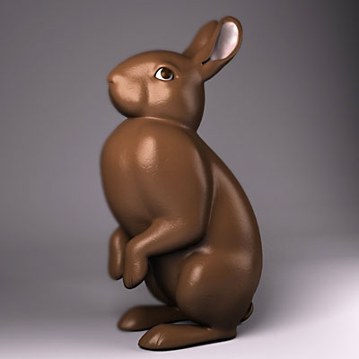 3D model of Easter bunny