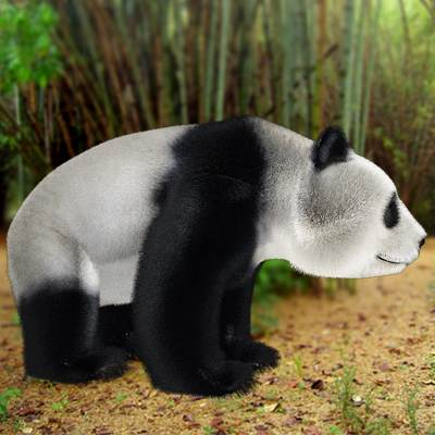 Photorealistic 3D model of a giant panda