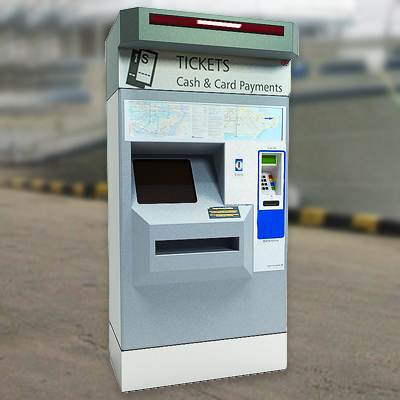 The 3D model of a Ticket vending machine