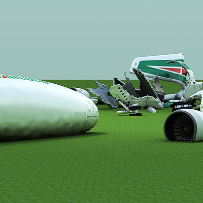3D model of a Crashed Airbus-A380