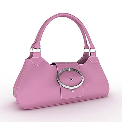3D model of a Pink ladies handbag