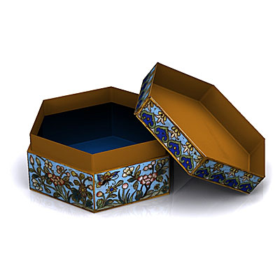 3D model of a Chinese box