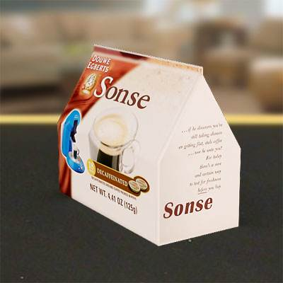 The 3D model of a Big coffee pack