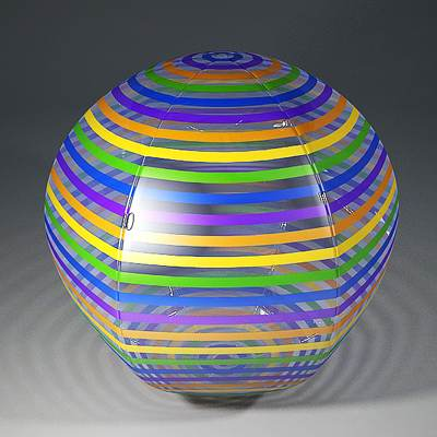 The 3D model of a Beach ball