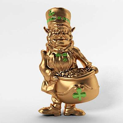 model: 3D leprechaun made of gold